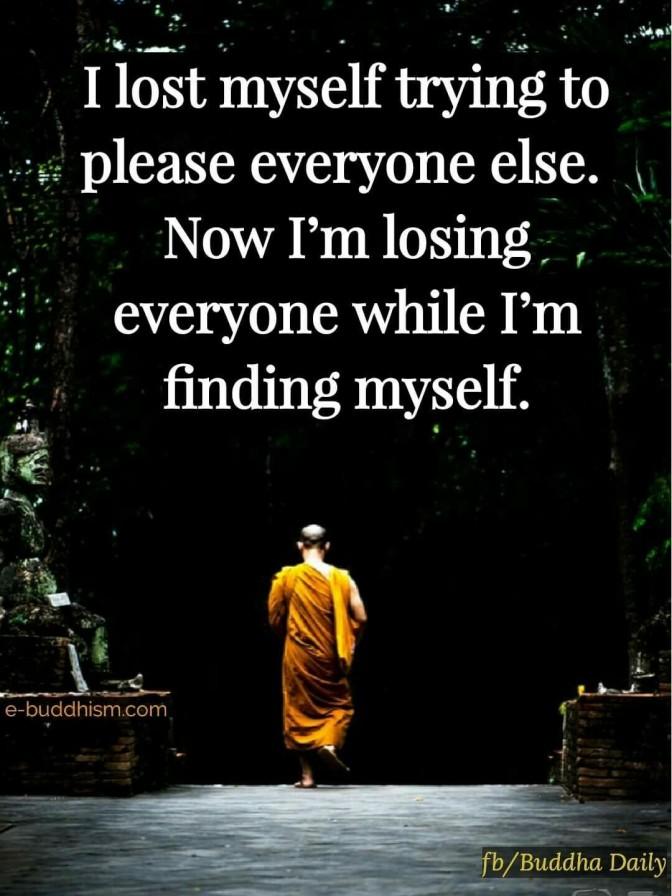 I lost myself…